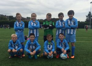 Warrenpoint Town Under 10's 2016 before kick off against Windmill
