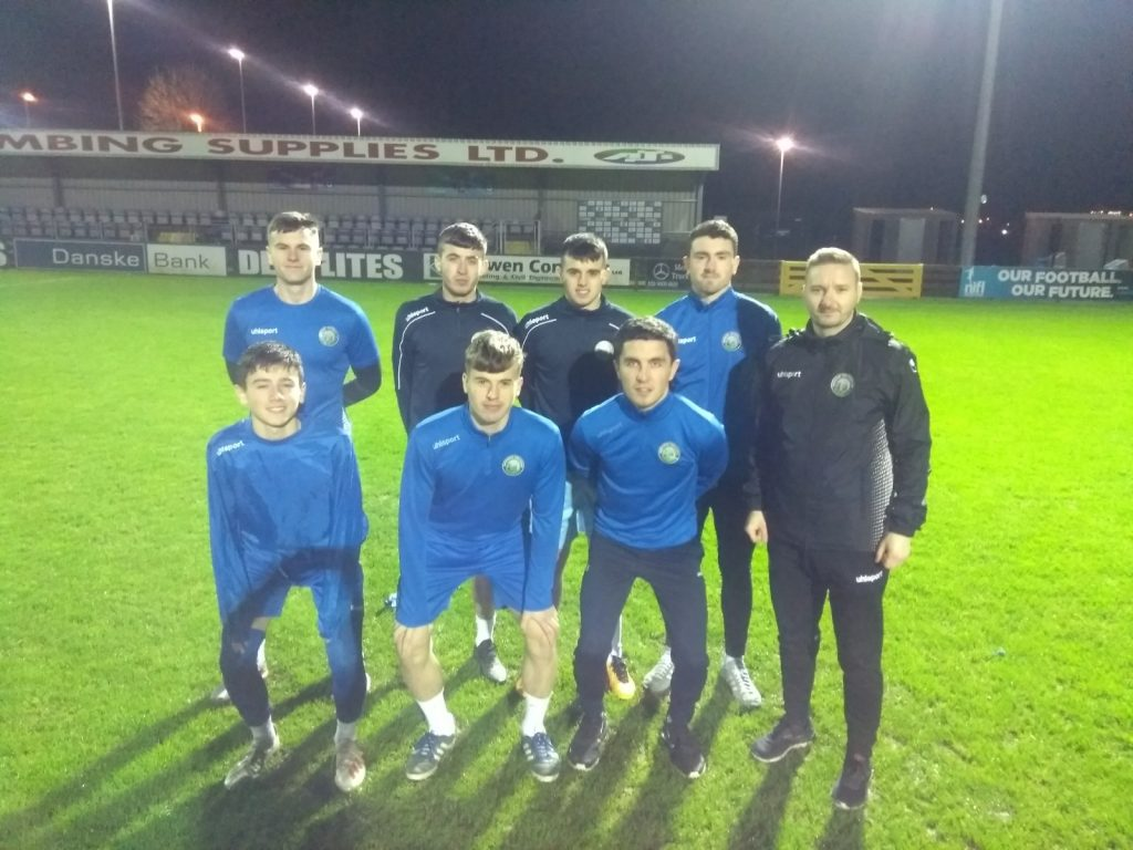Aaron McNeill pictured with academy players